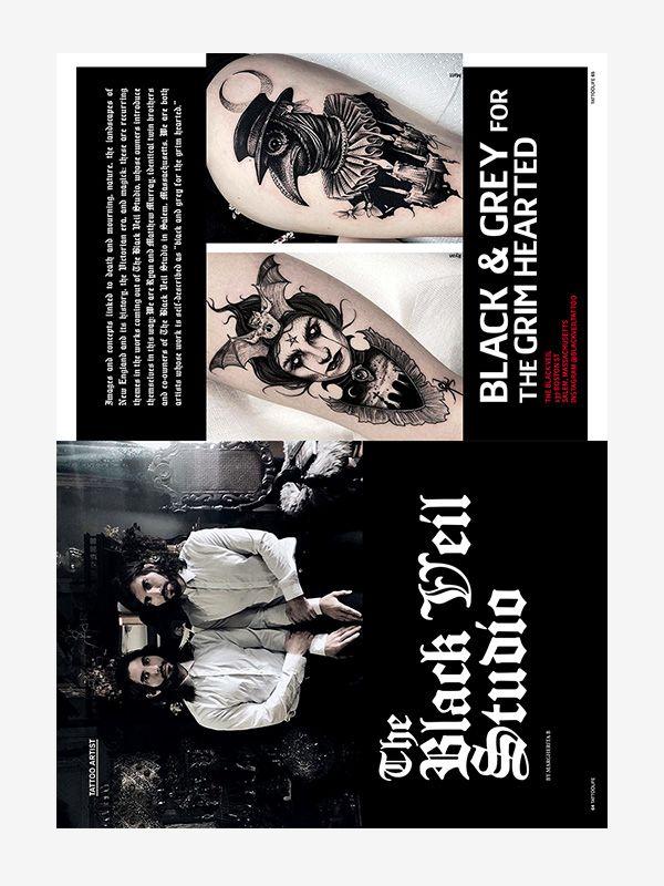 The Black Veil Studio, Tattoo Life September/October 2021