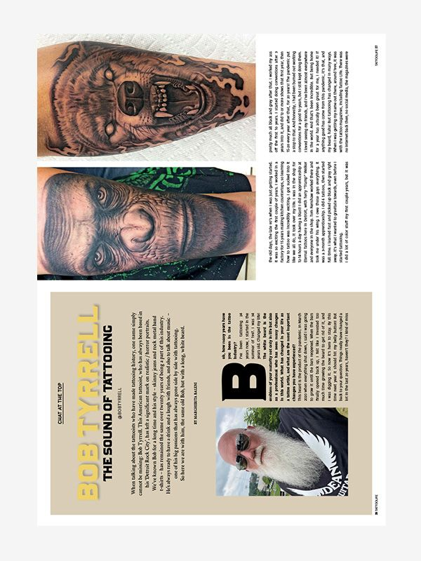 Chat at The Top with Bob Tyrrell, Tattoo Life Magazine November-December 2021