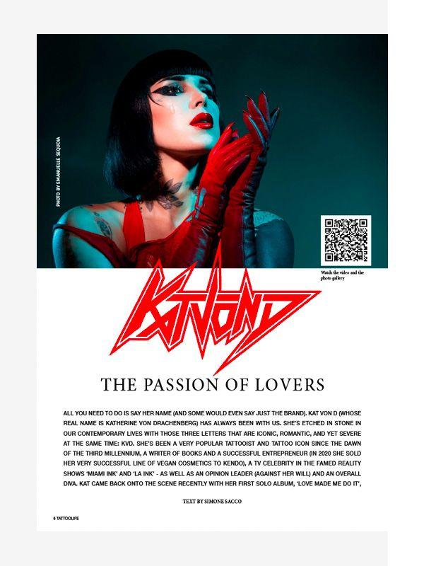 Cover Girl: Kat Von D, Tattoo Life Magazine November-December 2021