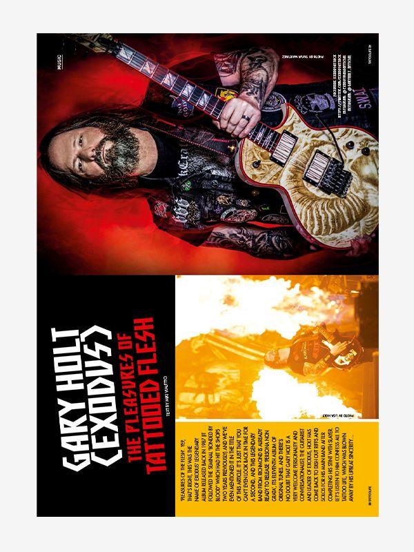 Gary Holt (Exodus), Tattoo Life Magazine November-December 2021
