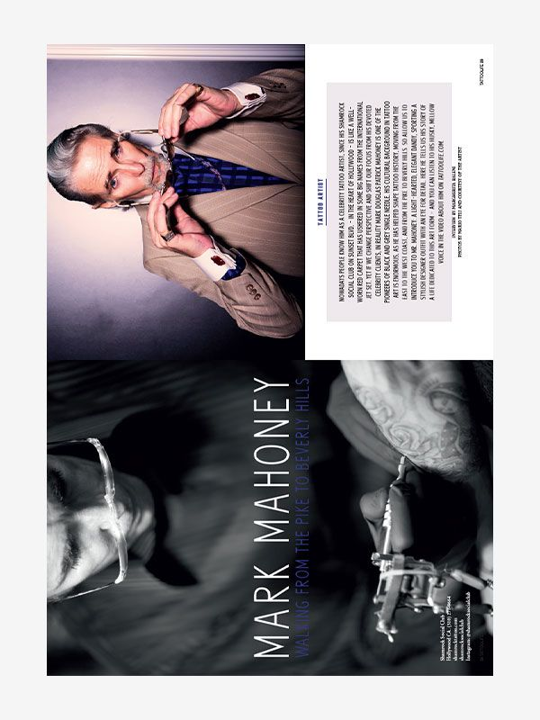 Mark Mahoney, Tattoo Life Magazine September/October 2018