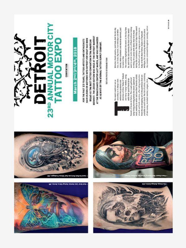 Tattoo Life Magazine July/August 2018 - Detroit Tattoo Expo