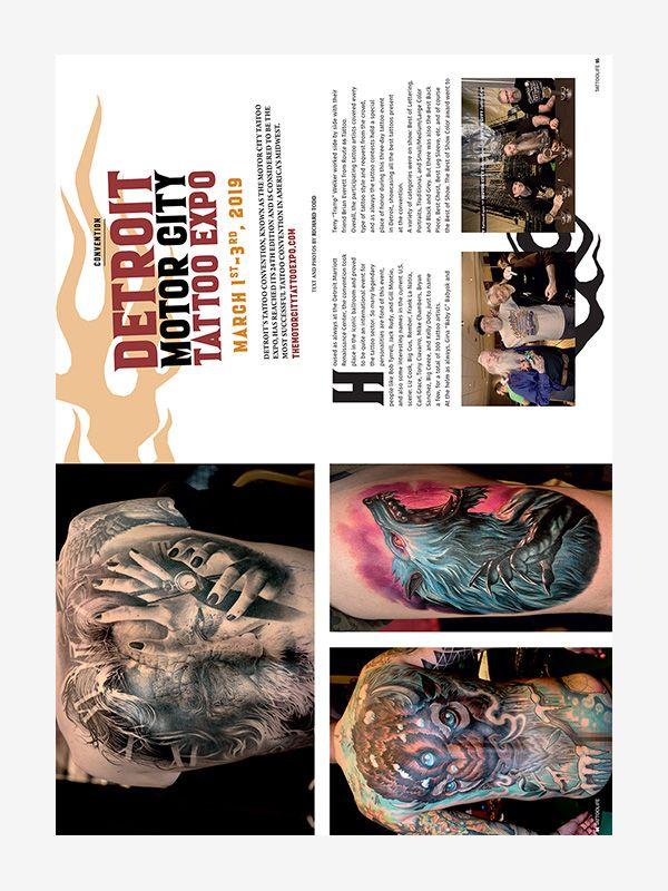 Motor City Tattoo Expo Detroit, Tattoo Life July/August 2019