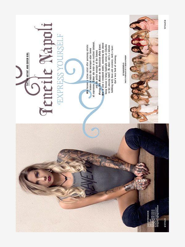 Teneile Napoli, Tattoo Life Magazine September/October 2018