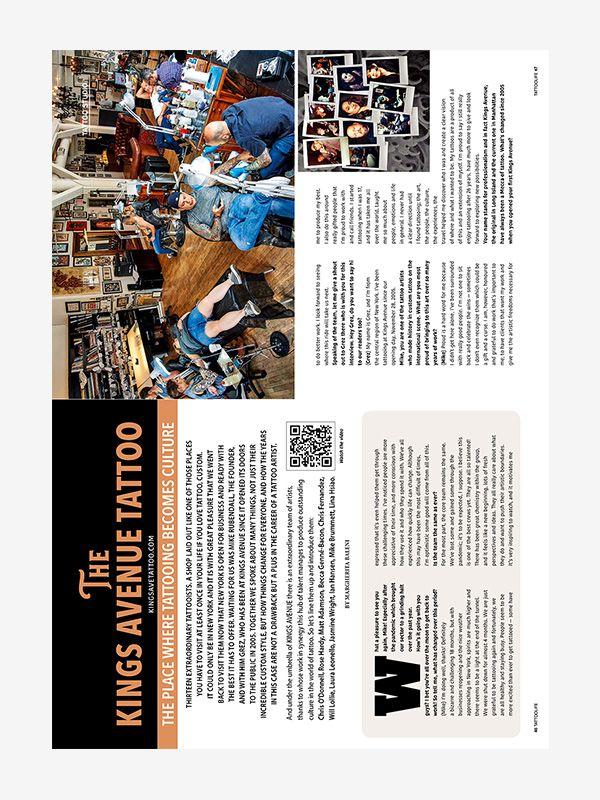 The Kings Avenue Tattoo, Tattoo Life Magazine 131