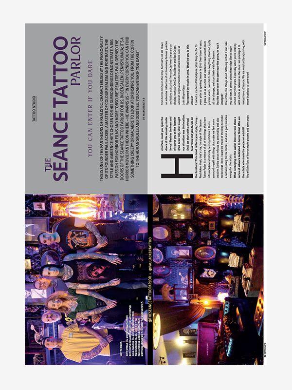 The Séance Tattoo Parlor, Tattoo Life November/December 2020