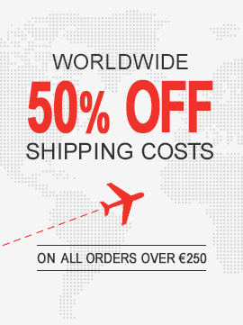 Worldwide 50% OFF Shipping Costs