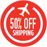50% OFF Worldwide Shipping Costs